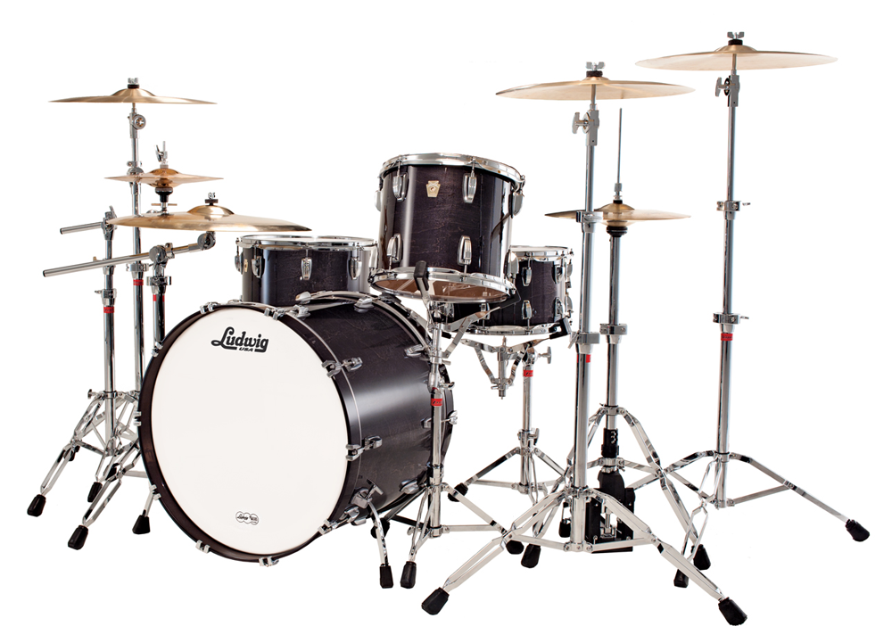 Ludwig Centennial Kit 5 Piece In Transparent Black 4 Shown With The Touring Players Demands Mind Presents Series